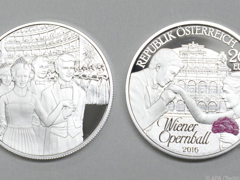 Auch Silbermünzen sind stark im Wert gestiegen
