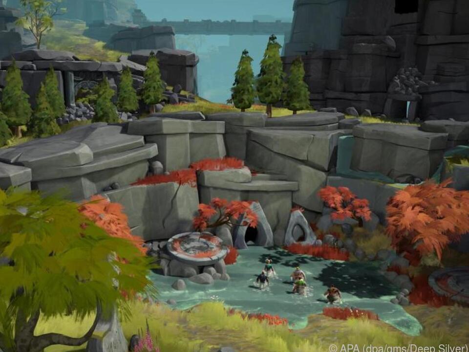 Auf der Insel der Götter schlagen sich die acht Helden durch