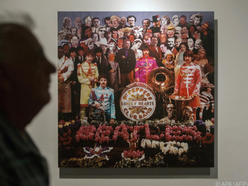 Bild des legendären Platten-Covers der Beatles aus dem Jahr 1967