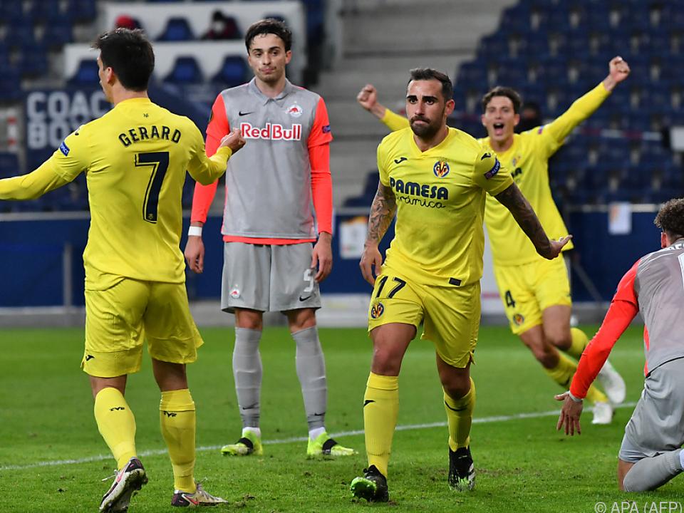 Bilder wie diese muss Salzburg im Rückspiel in Villarreal vermeiden