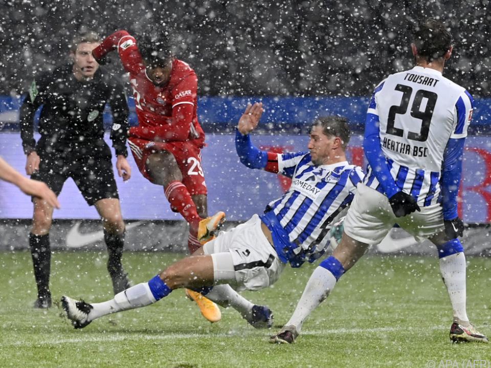 Coman erzielte im Schneegestöber den einzigen Treffer