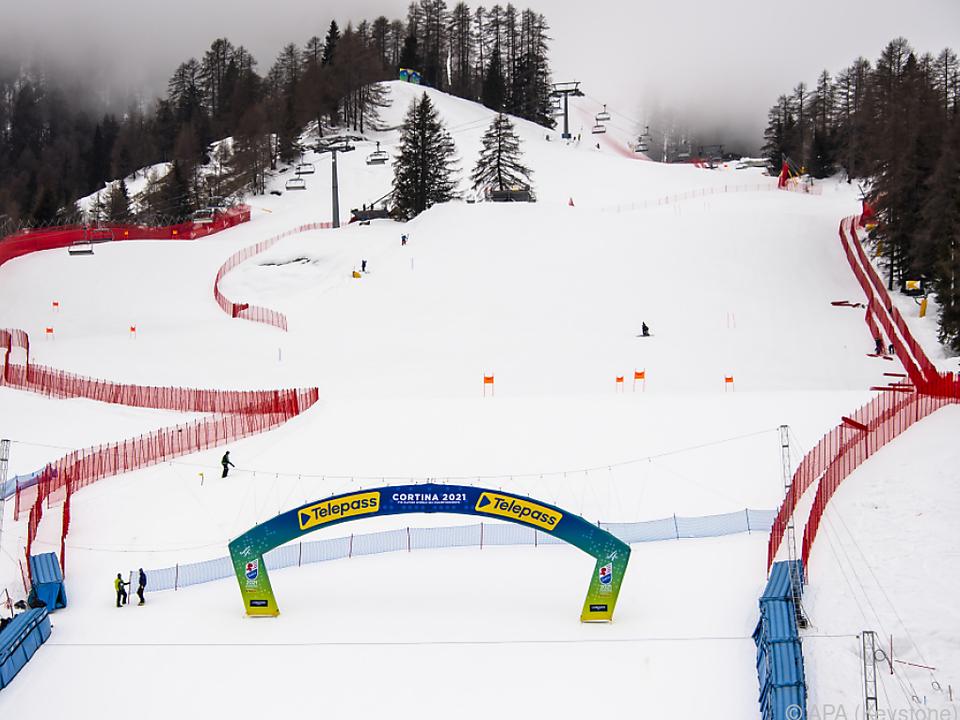 Cortina ist für die 46. alpine Ski-WM bereit