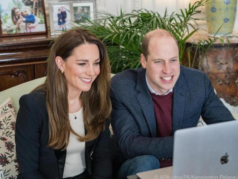 Das royale Paar sprach per Videoanruf mit Krankenpflegeschülern