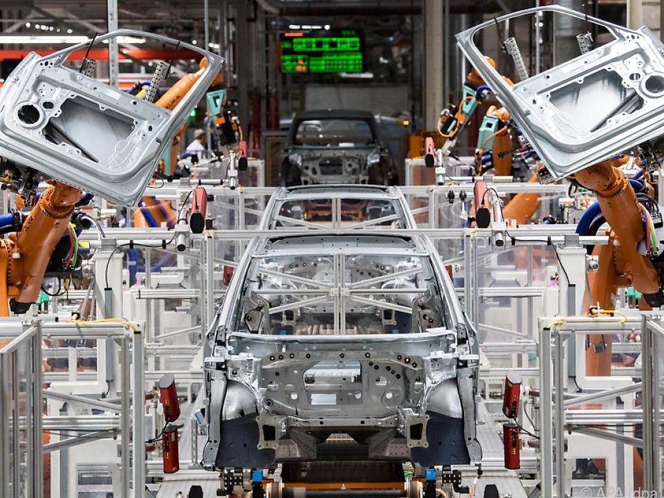 Das VW-Werk in Zwickau in Sachsen