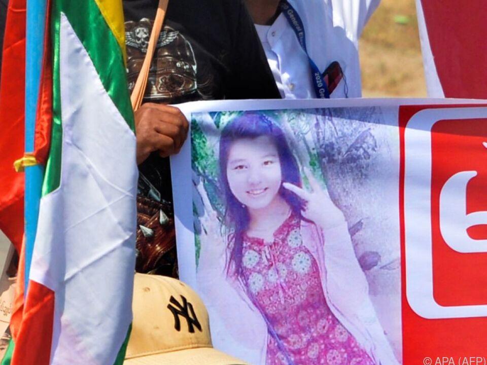 Die 20-jährige Mya Thwate Thwate Khaing starb im Krankenhaus