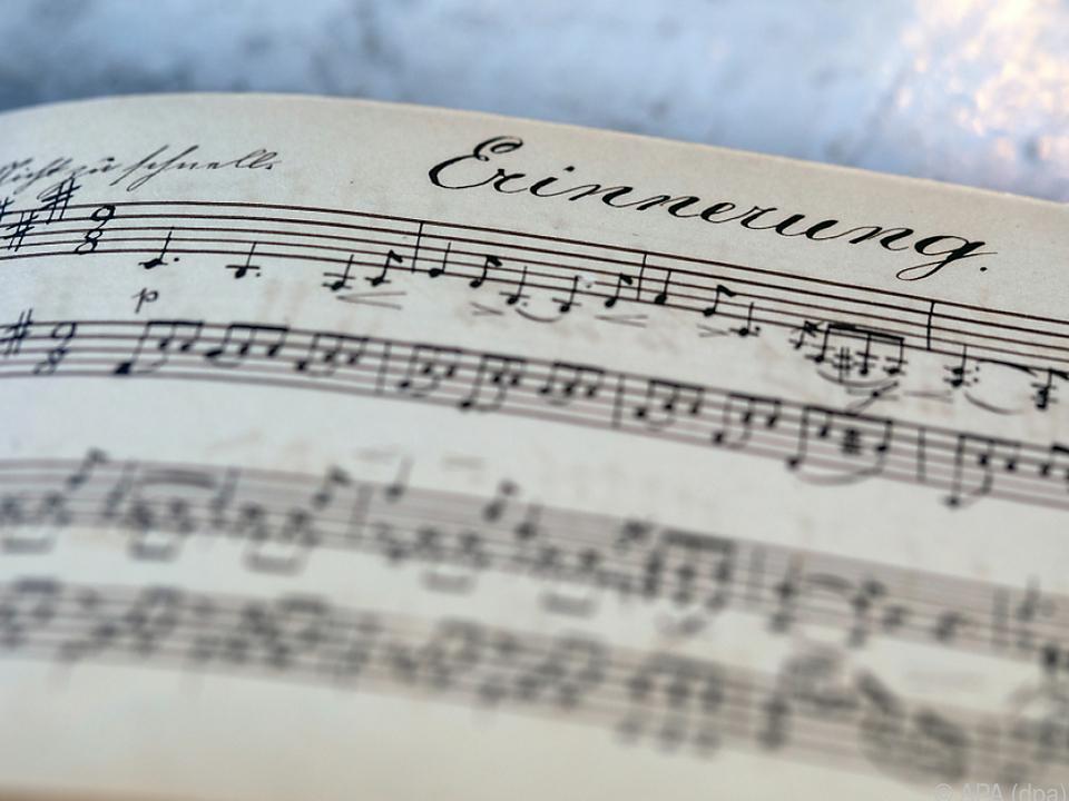 Die Komposition im Erinnerungsalbum von Humperdincks Schwester