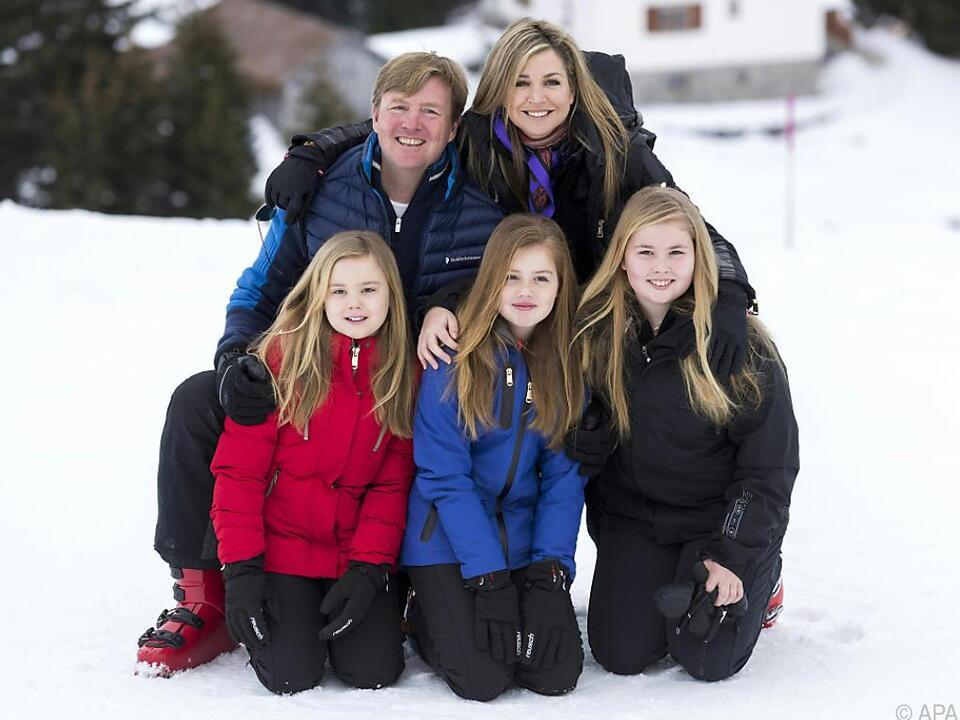 Die niederländischen Royals machen traditionell in Lech Winterurlaub