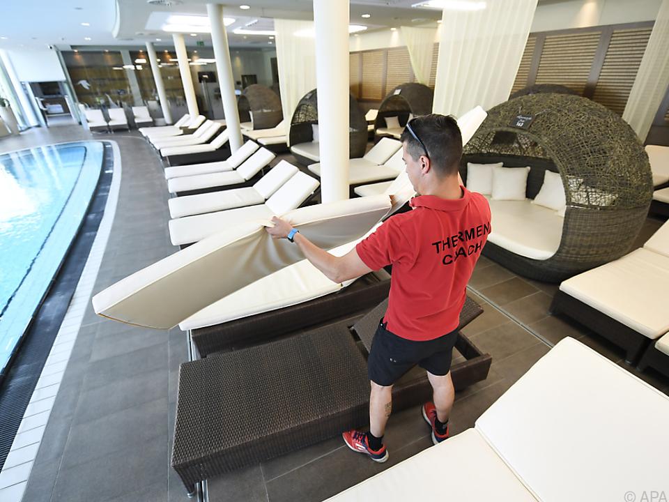 Die Thermenhotels bieten sich für die Testphase an