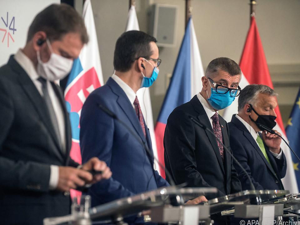 Die V4-Regierungschefs treffen regelmäßig zusammen