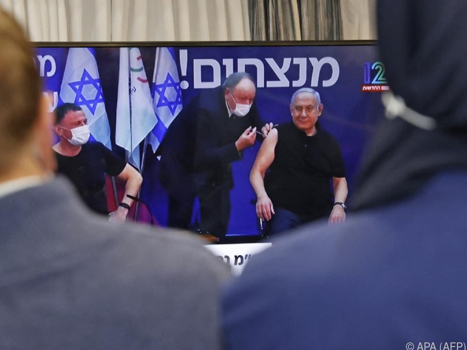 Edelstein und Netanyahu wurden live im Fernsehen geimpft