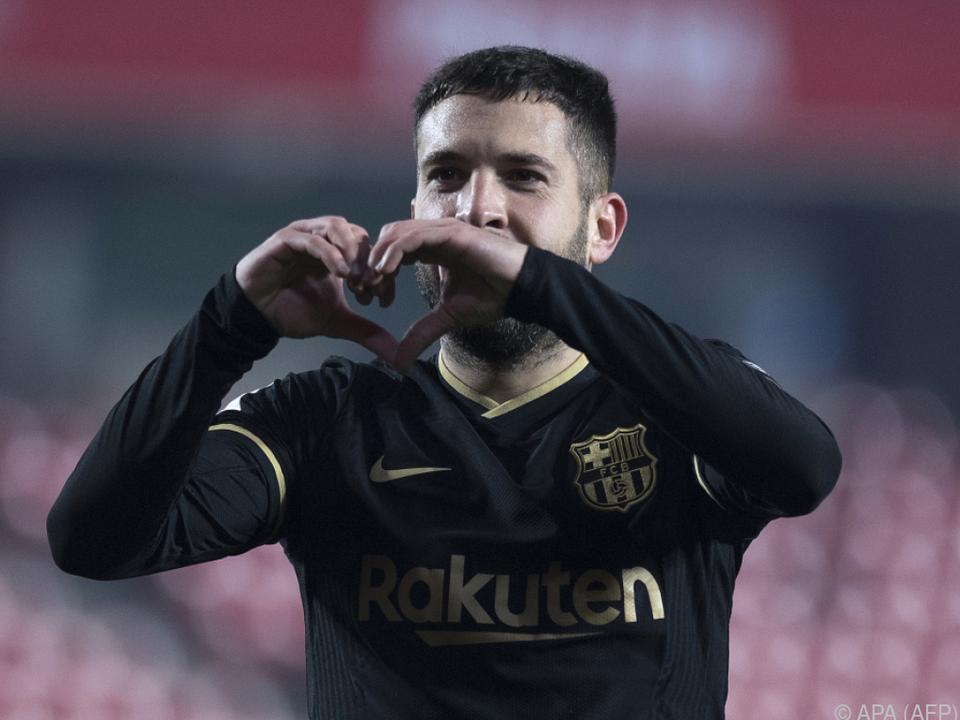 Ein Treffer von Jordi Alba rettete Barca in die Verlängerung