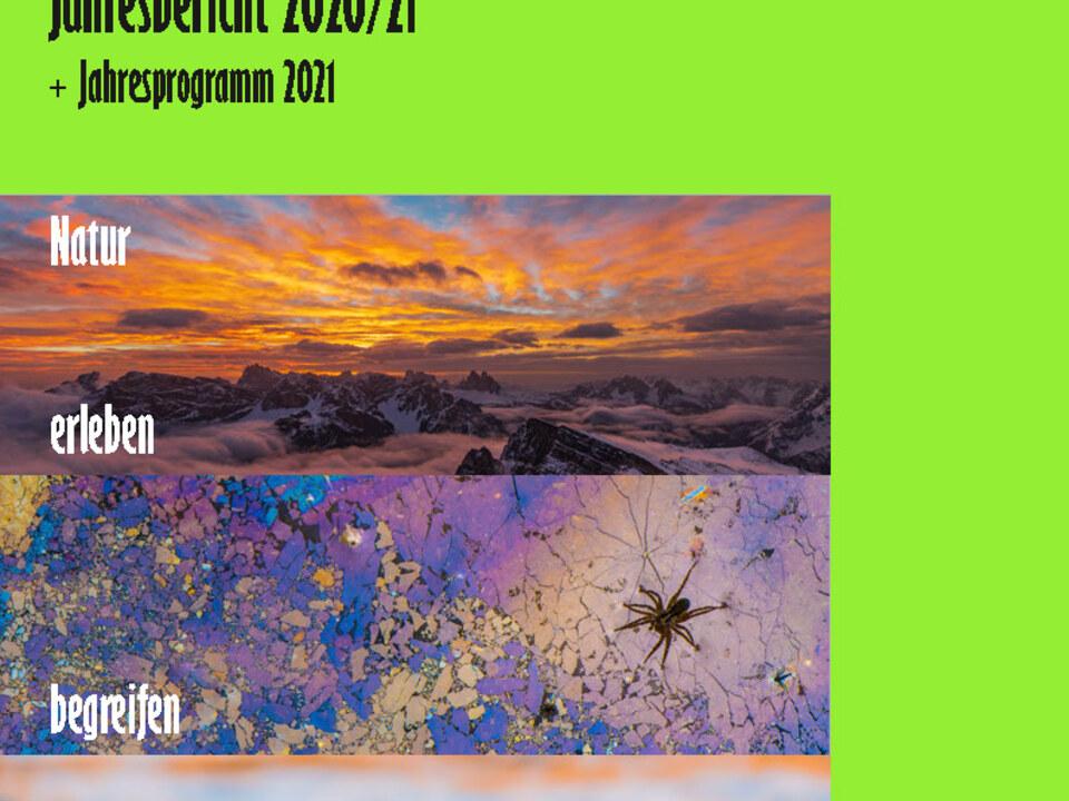 Eisvogel - Jahresbericht 2020-21 Umschlag