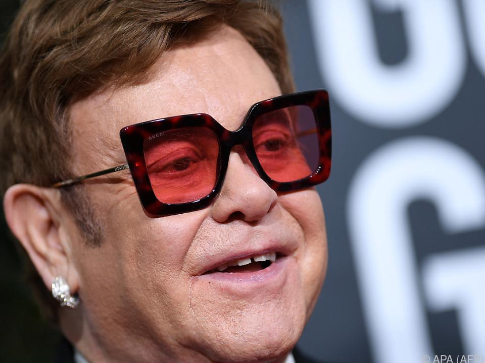 Elton John im Kampf gegen die Pandemie (Archivbild)