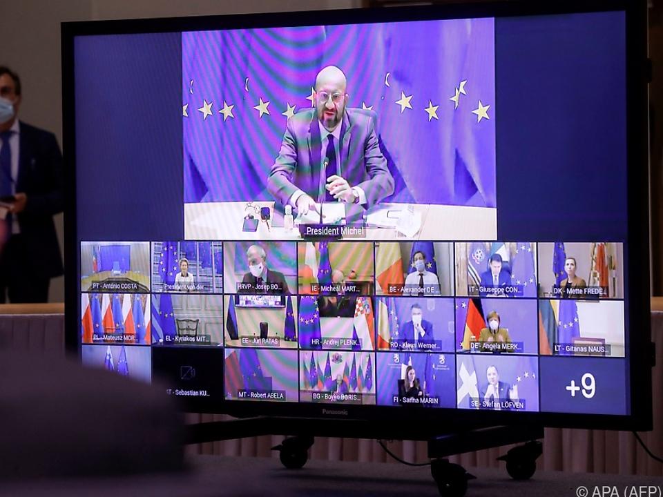 EU-Chefs beraten wie bereits im Jänner virtuell