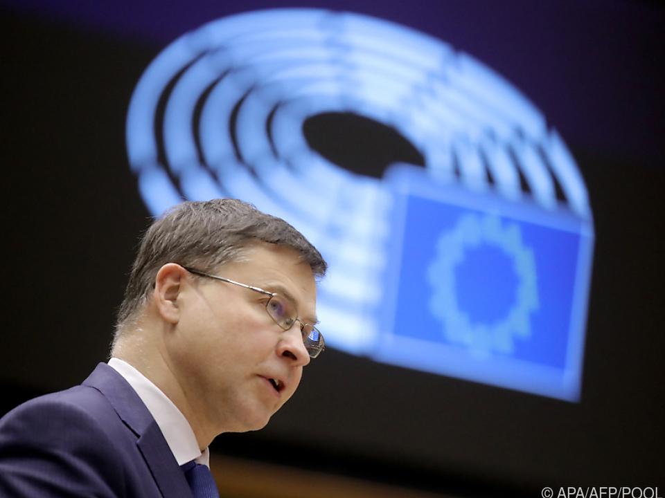 EU-Kommissar Dombrovskis will von EU-Staaten klare Strategien