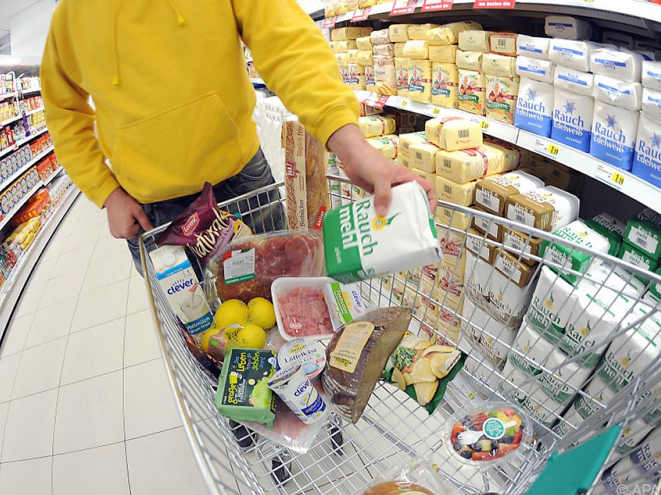 Fleisch, Brot, Milch, Käse und Eier waren im Jänner günstiger