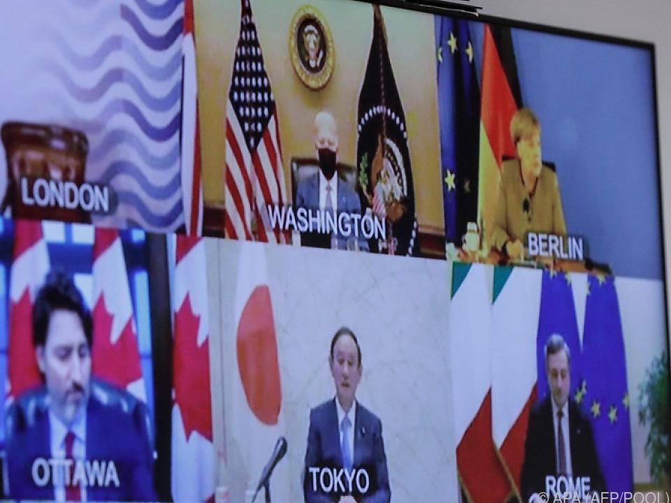 G7-Staats- und Regierungschefs tagten online