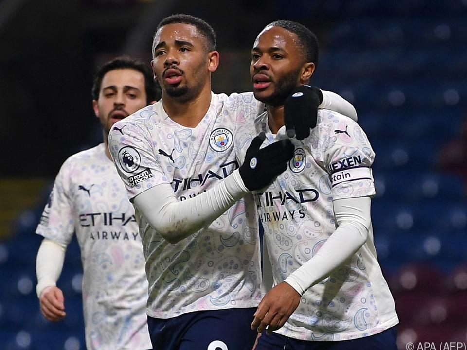 Gabriel Jesus und Raheem Sterling durften auch im FA-Cup feiern