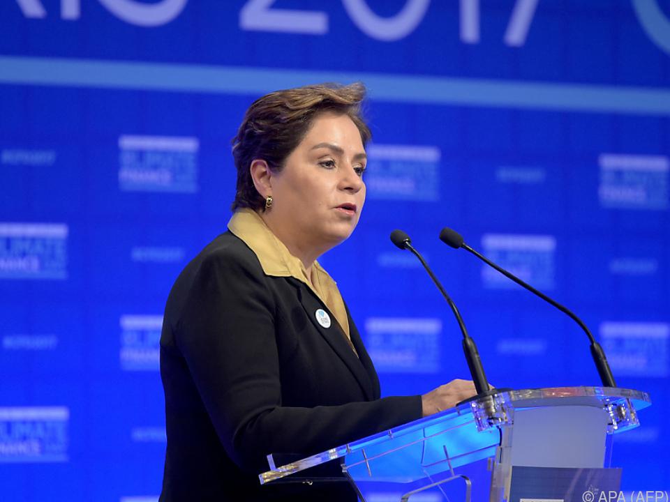 Generalsekretärin des UN-Klimasekretariats, Patricia Espinsosa