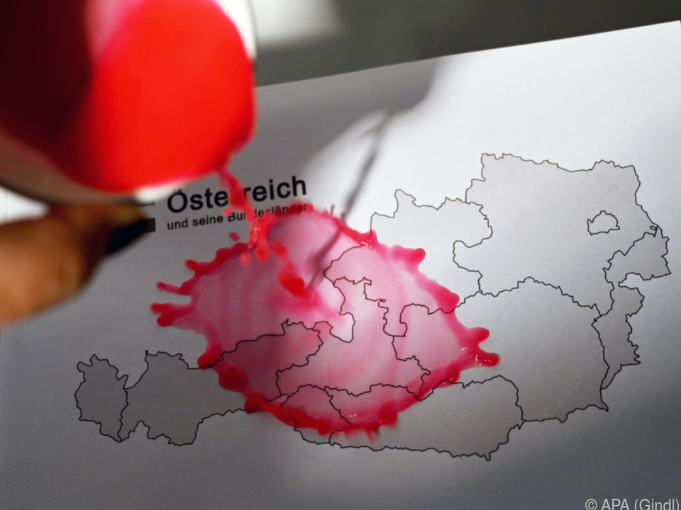 Gesamt-Österreich blieb auf Ampel Rot, Wien nun Orange