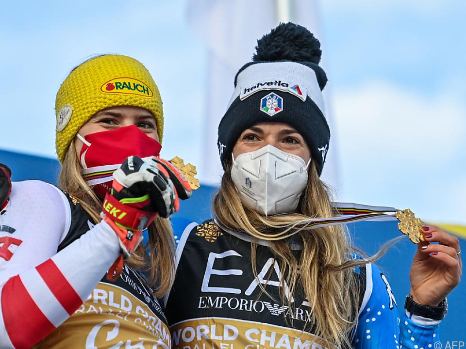 Gold für Liensberger und Bassino im Parallelrennen