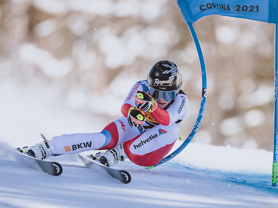 Gut-Behrami erste Goldmedaillen-Gewinnerin bei der WM in Cortina