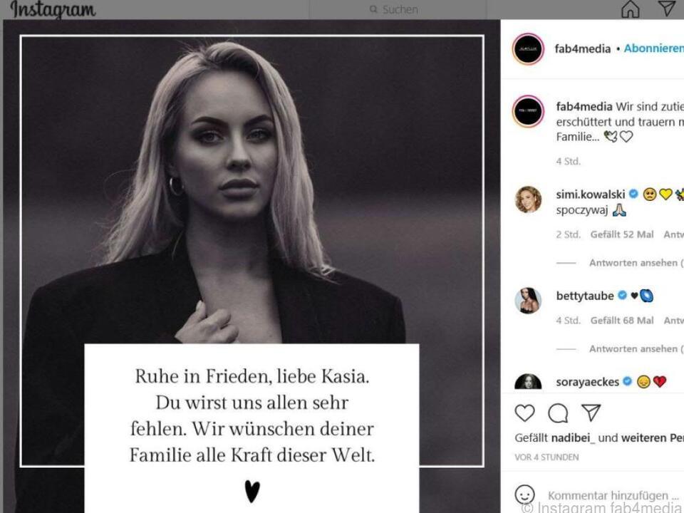 Ihre Agentur fab4media verabschiedt sich von Model Kasia Lenhardt