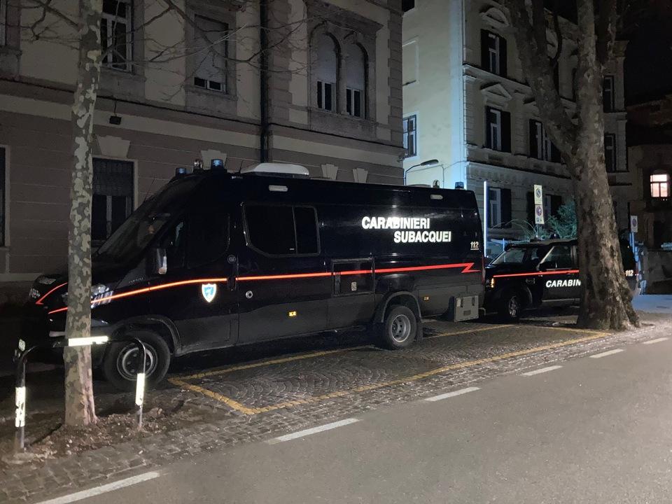 spezialisierte Tauchergruppe der Carabinieri aus Genua