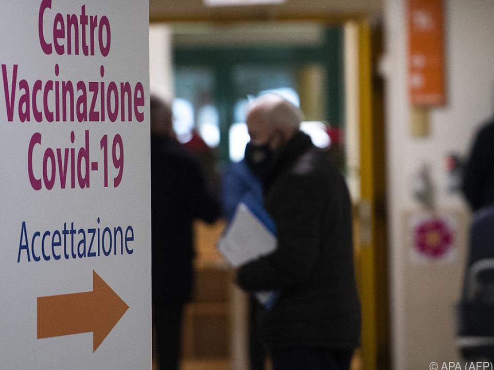 In Italien wird auf Hochtouren geimpft