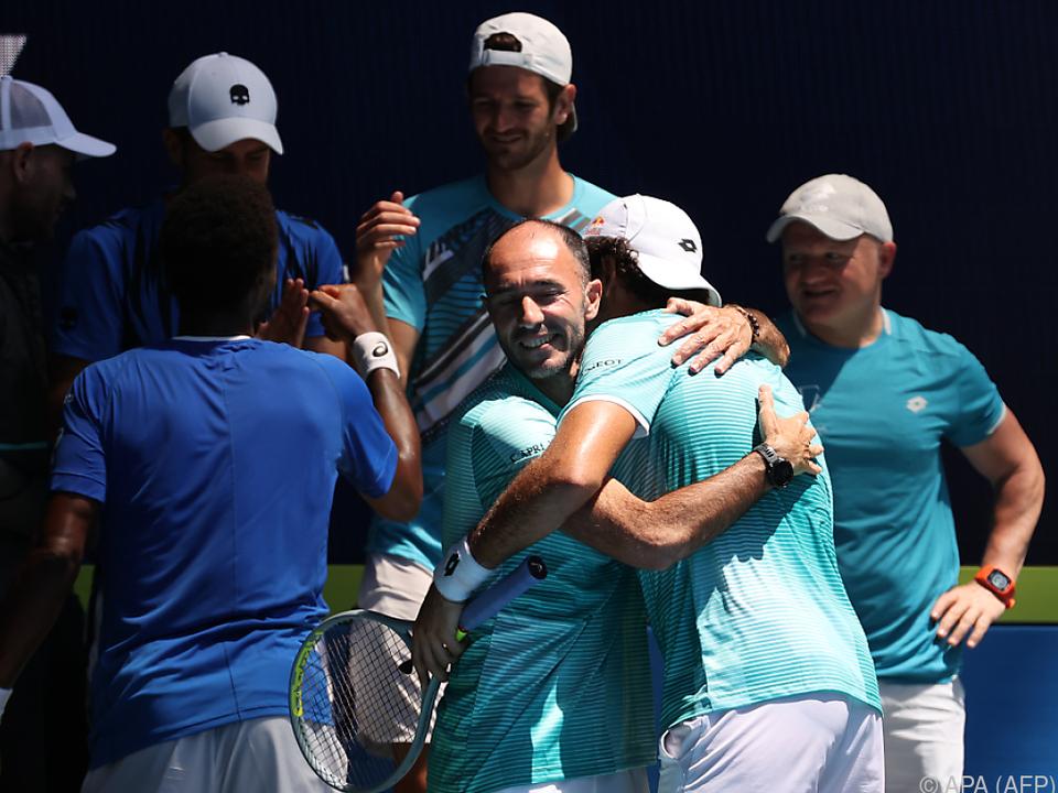 Italien bejubelt den Halbfinaleinzug im ATP Cup