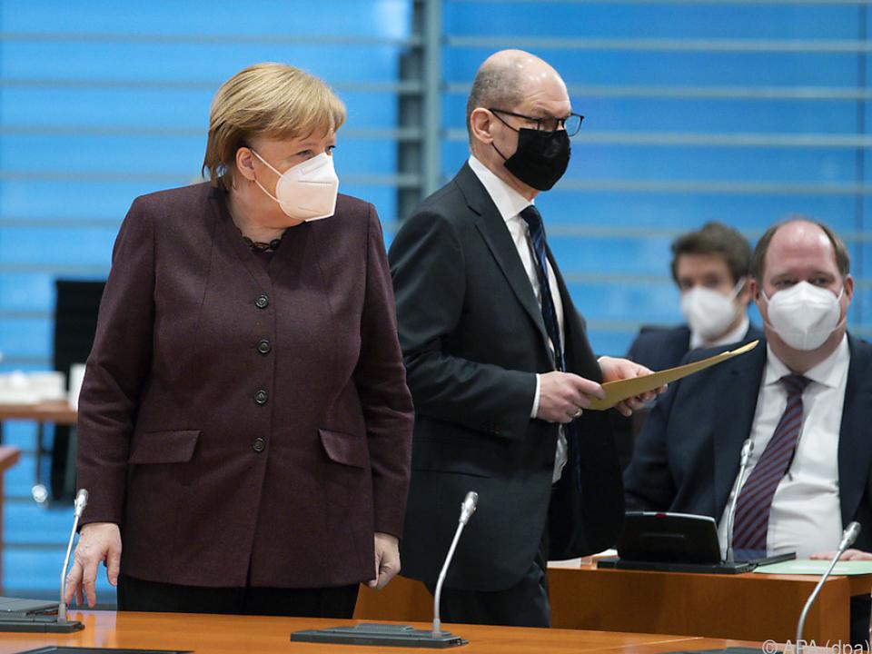 Kabinettssitzung im deutschen Bundeskanzleramt