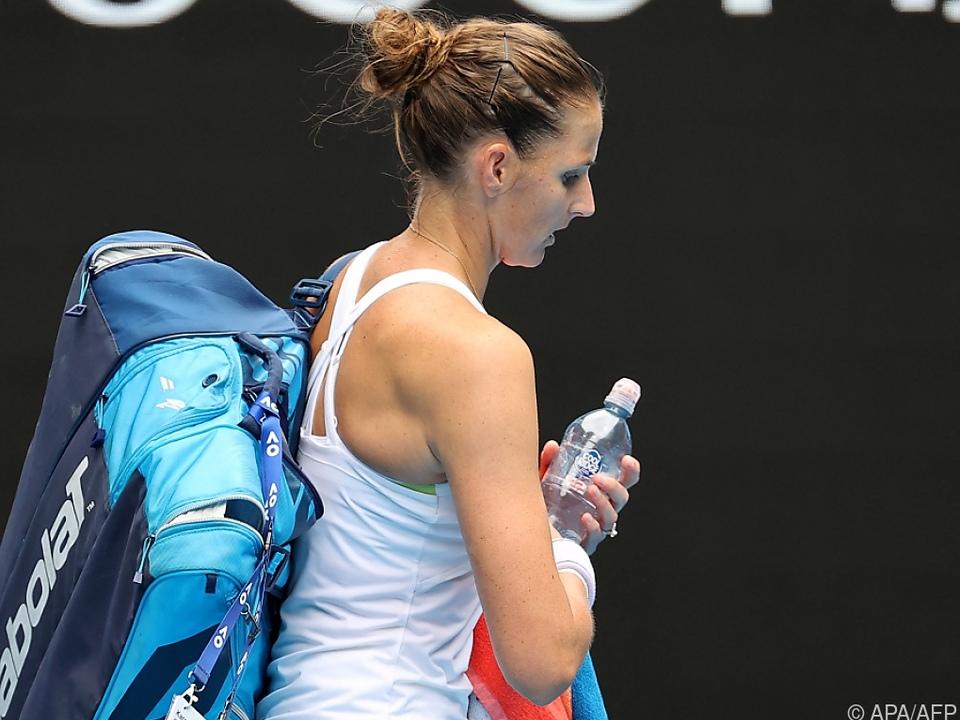 Karoline Pliskova schied in Melbourne aus
