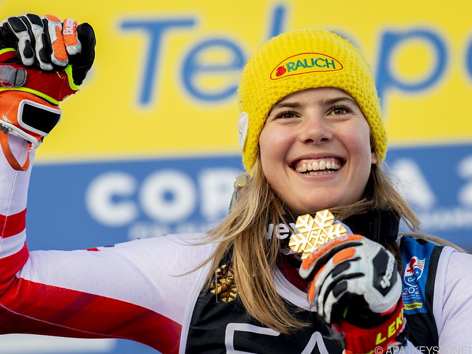 Katharina Liensberger im Gold-Glück