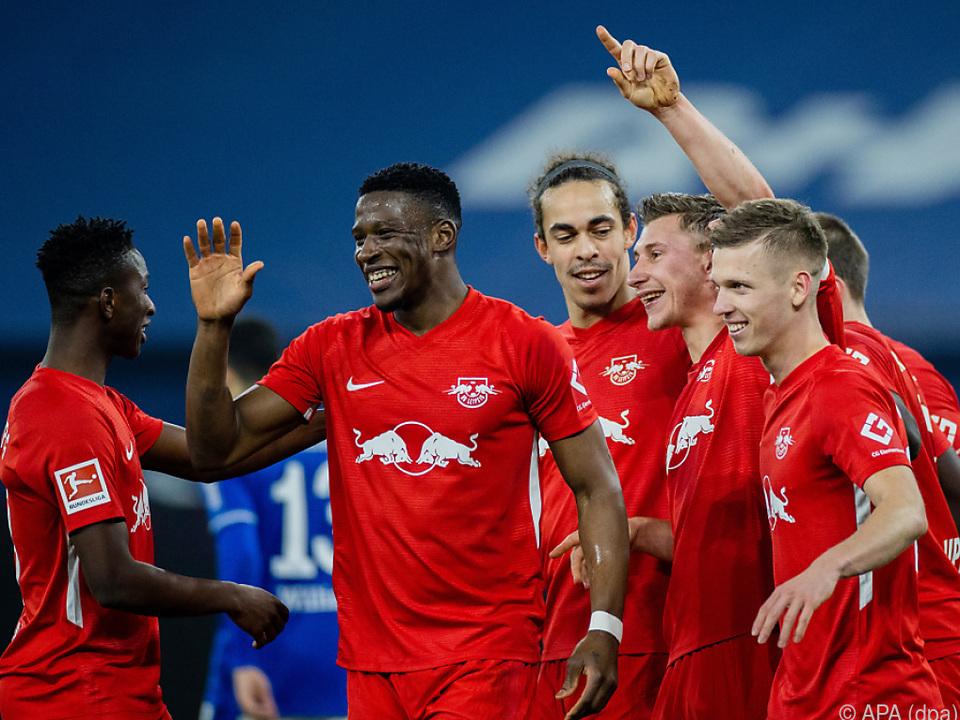 Klarer Sieg von Leipzig auf Schalke