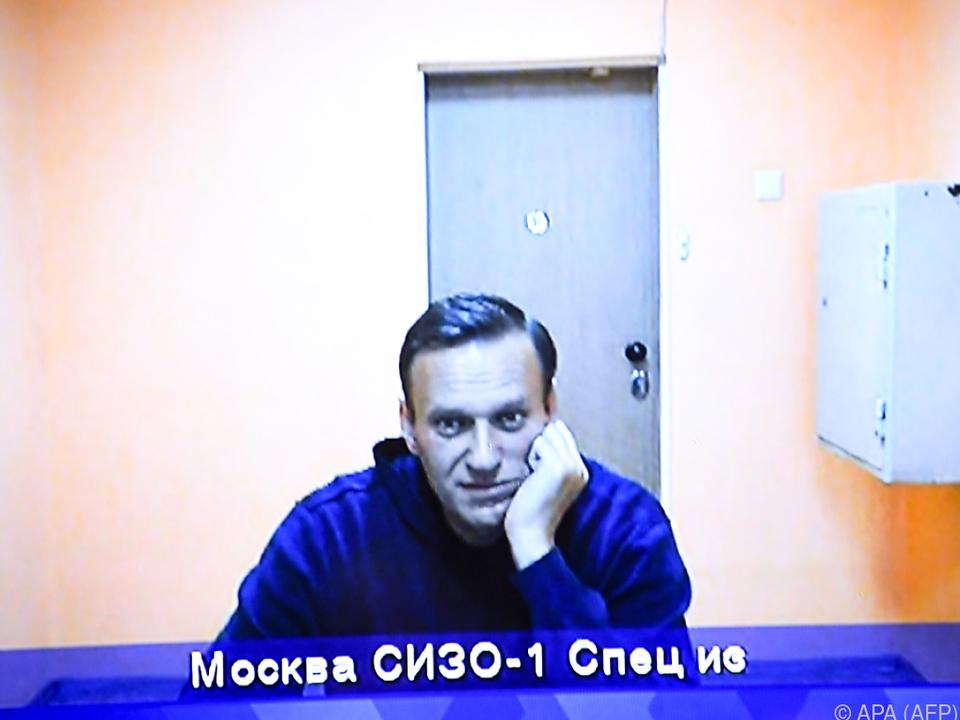 Kremlgegner Navalny bei einer Gerichtsanhörung