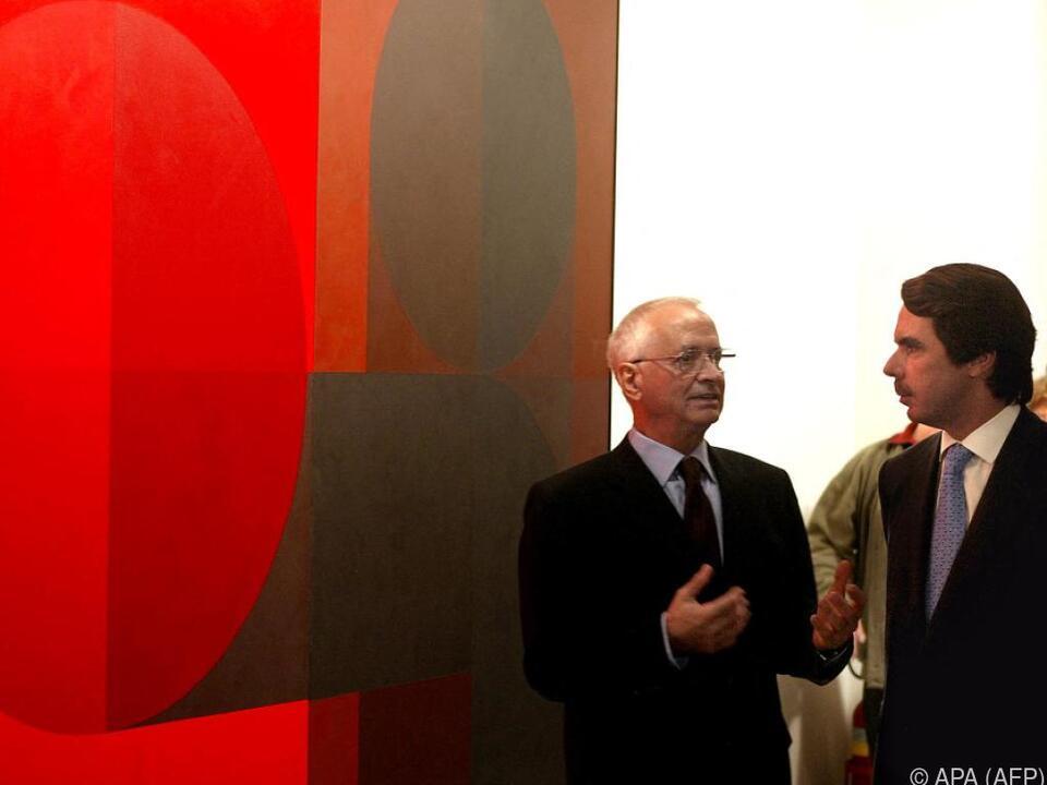 Künstler Luis Feito gestorben (Archivbild mit Premier Aznar)