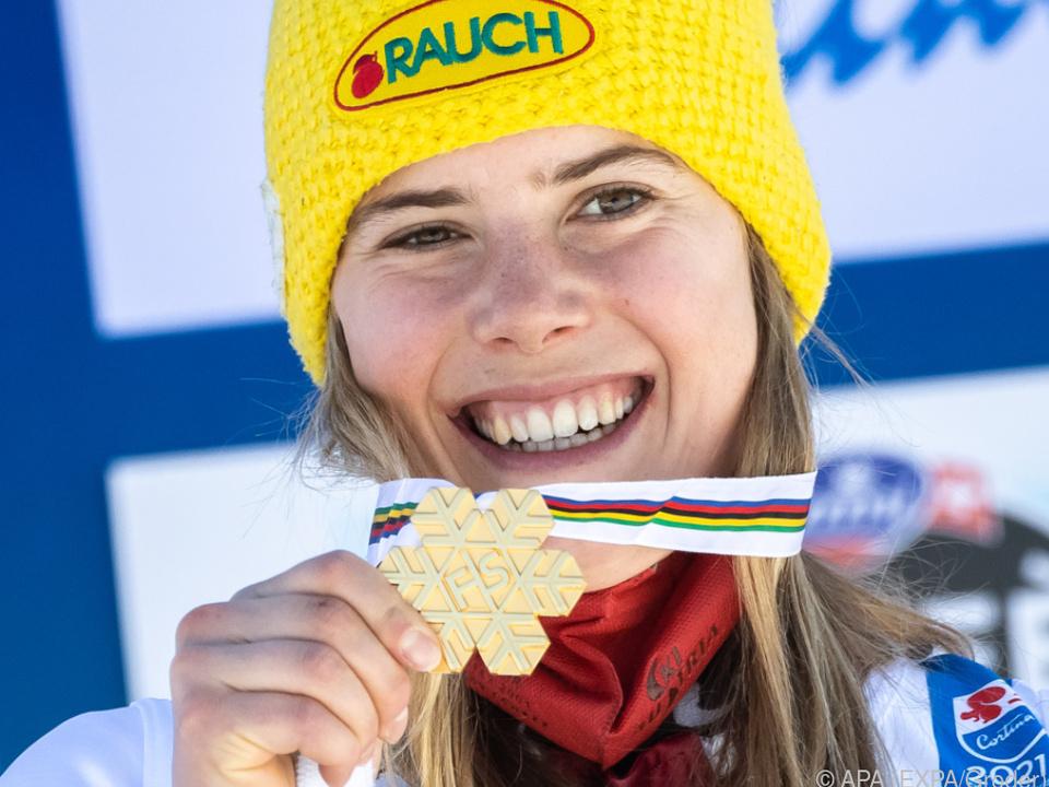 Liensberger mit ihrer zweiten Goldmedaille