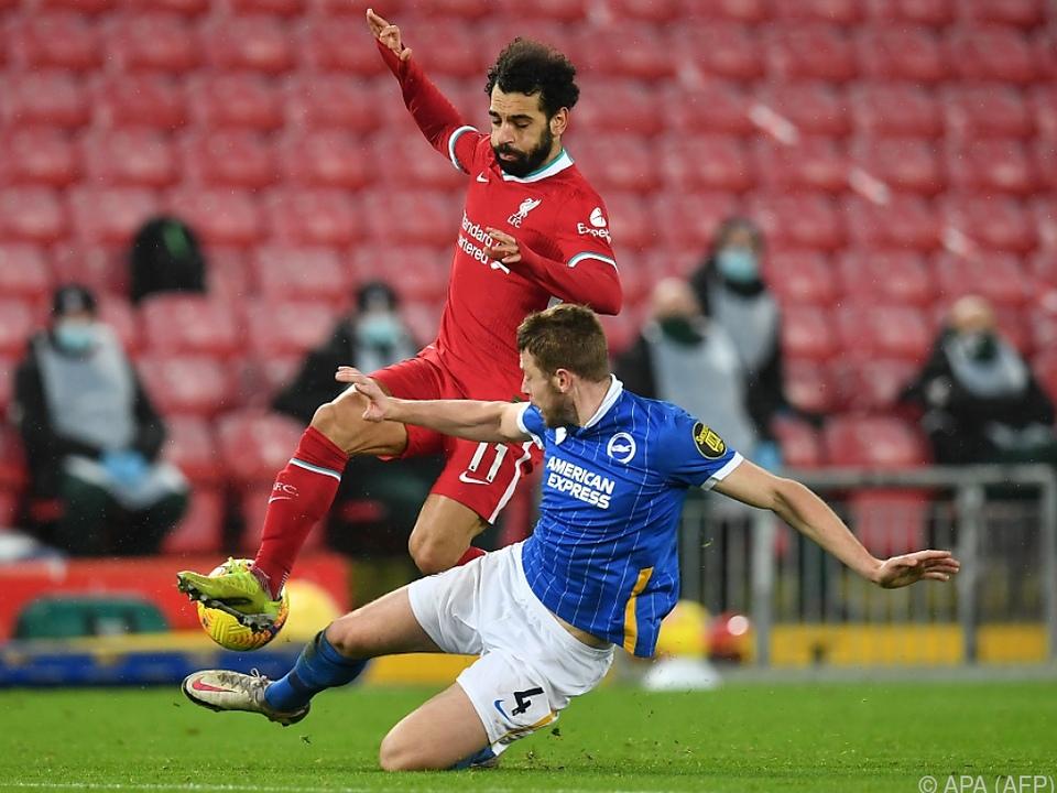 Liverpools Stürmerstar Salah war gegen Brighton auf verlorenem Posten