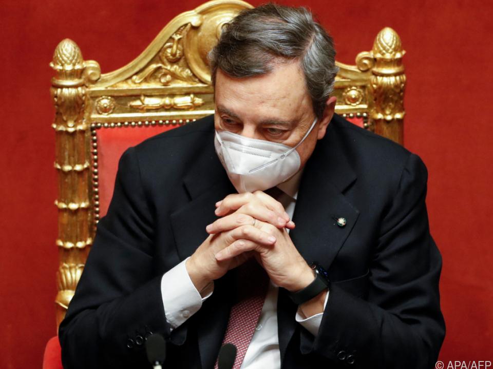 Mario Draghi stellte sich Vertrauensabstimmung