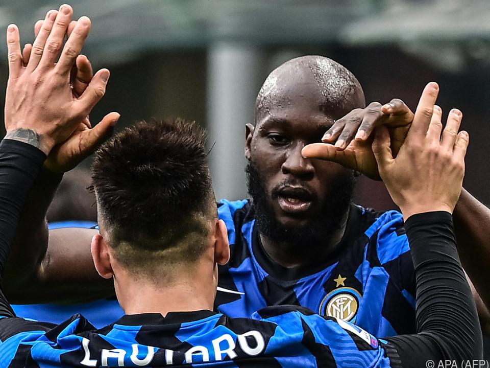 Martinez und Lukaku schossen Inter zu Derbysieg gegen Milan