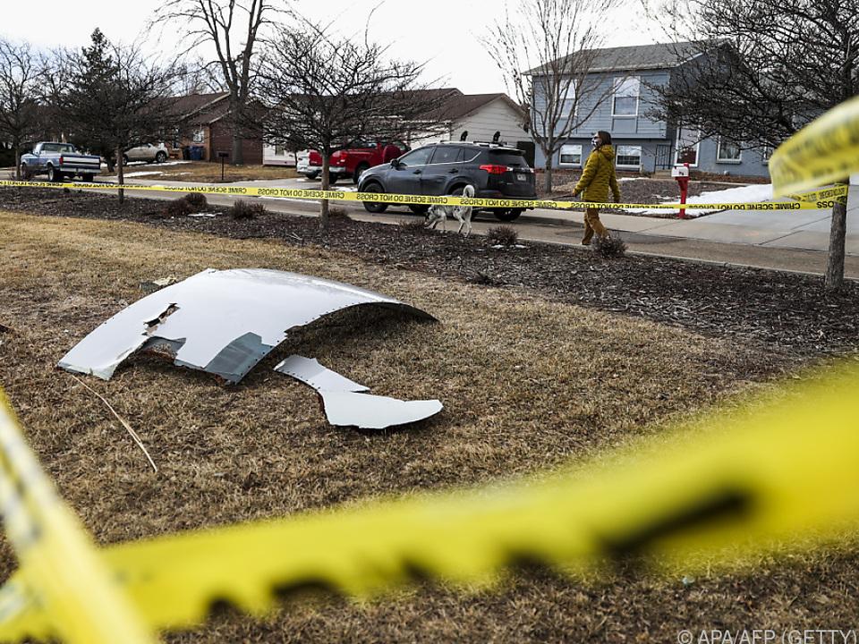 Massive Flugzeugteile waren abgestürzt