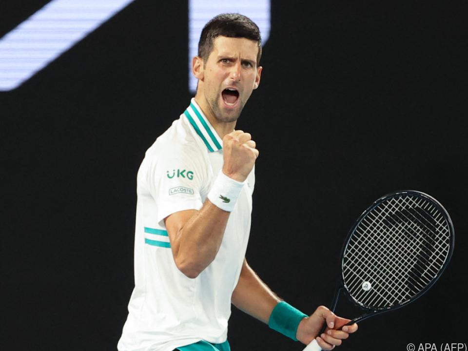 Novak Djokovic steht zum neunten Mal im Finale der Australian Open