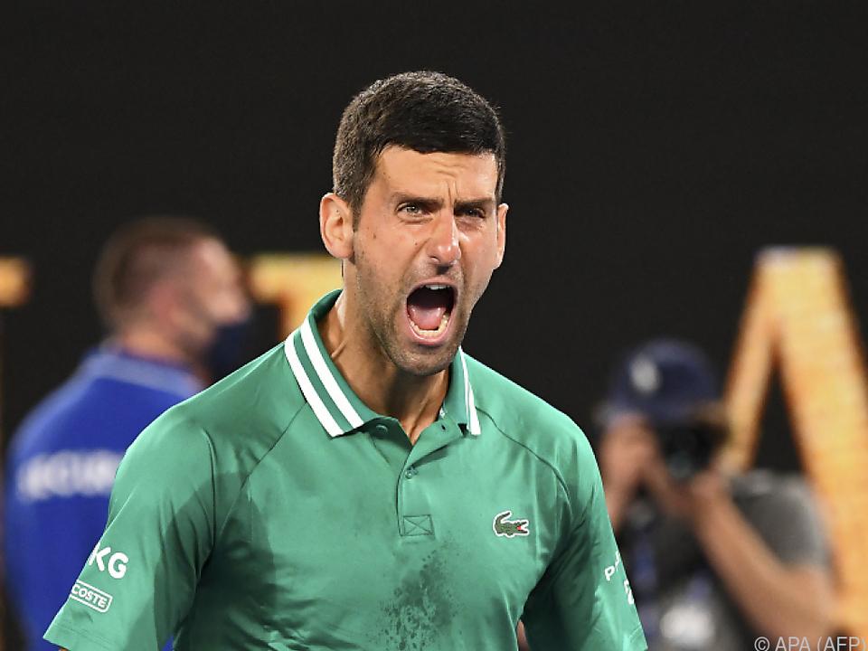 Novak Djokovic zelebrierte seinen Sieg über Taylor Fritz