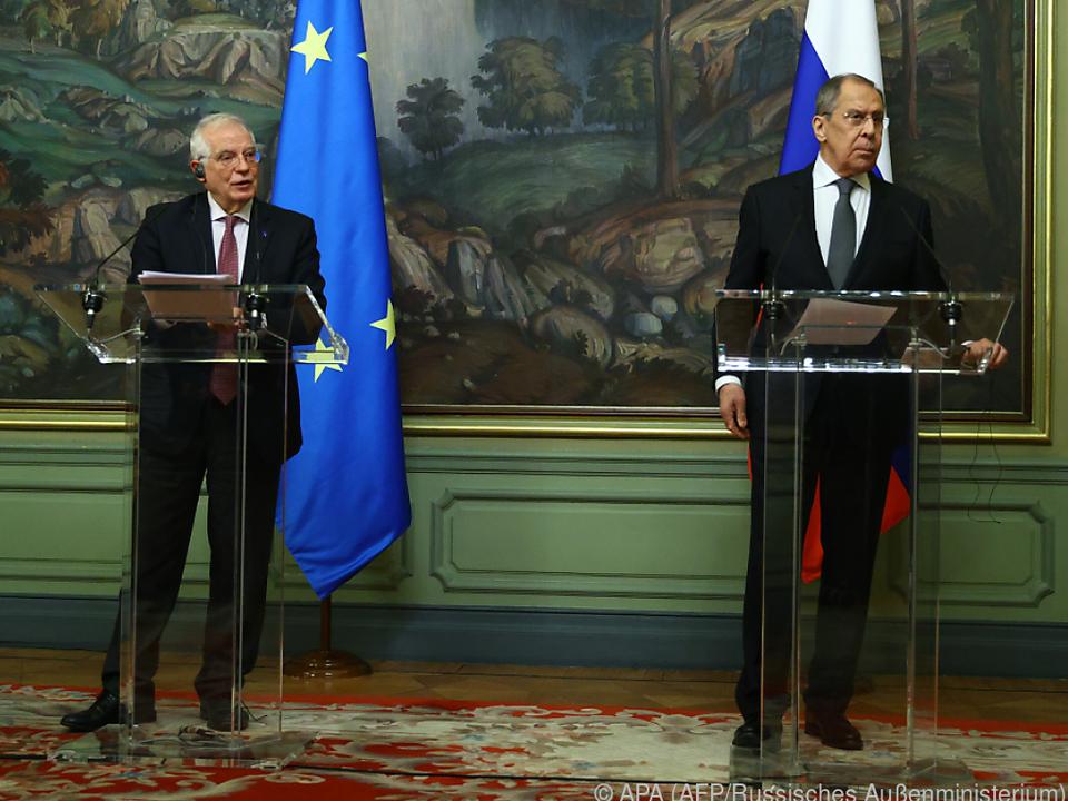 PK EU-Beauftragter Borrell und Russlands Außenminister Lawrow