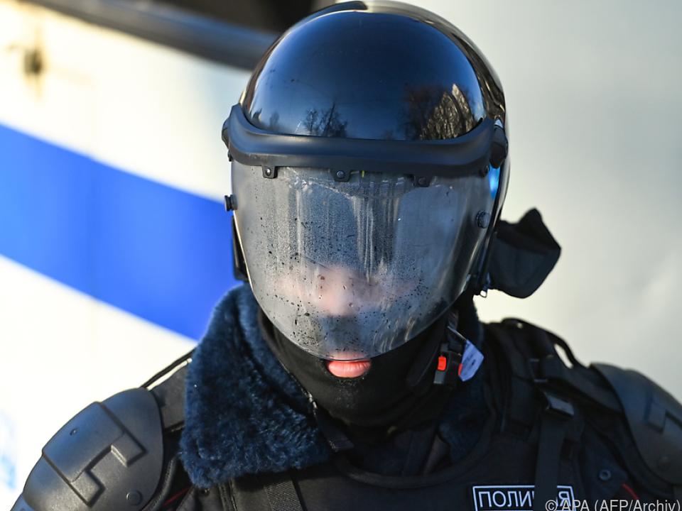 Polizeieinsatz in Russland gegen Demonstranten (am 2.2.2021)