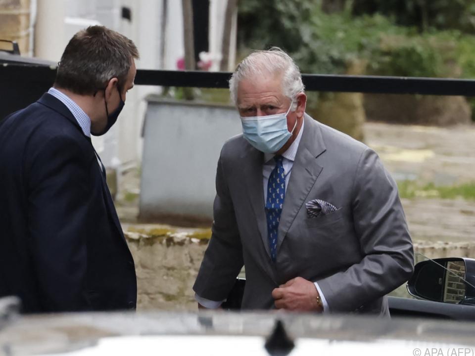Prinz Charles fuhr am Nachmittag zur King Edward VII-Klinik