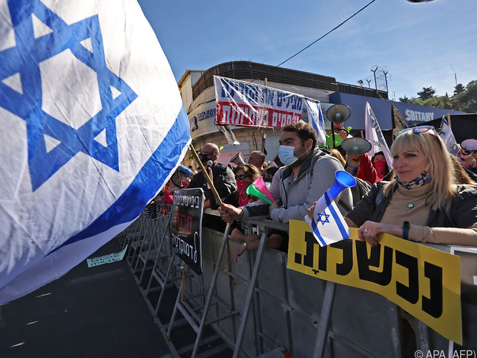Proteste gegen Netanyahu vor Gerichtsgebäude in Jerusalem