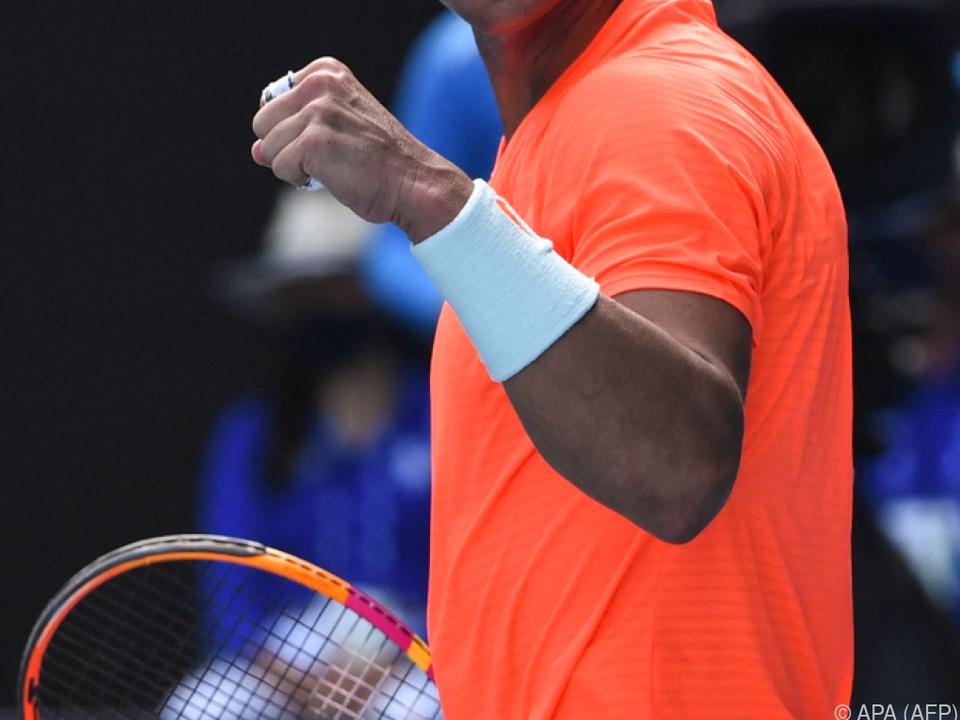 Rafael Nadal ist in Melbourne weiter auf der Siegerstraße