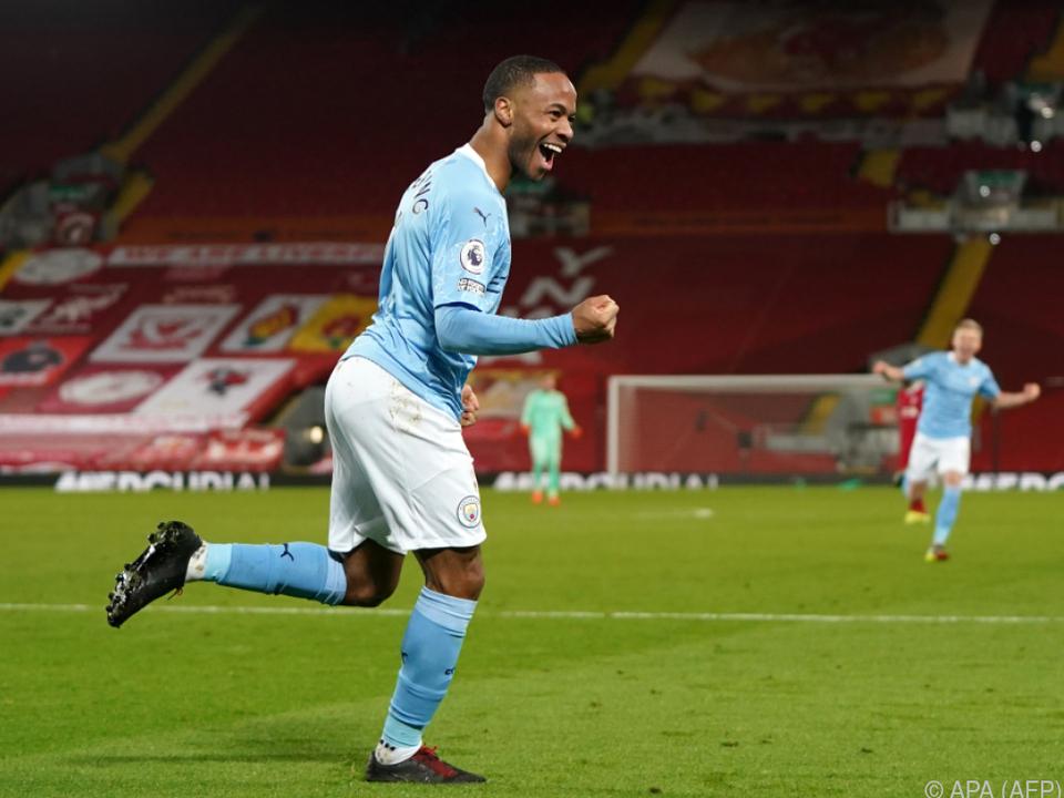 Raheem Sterling war an der Anfield Road überragend