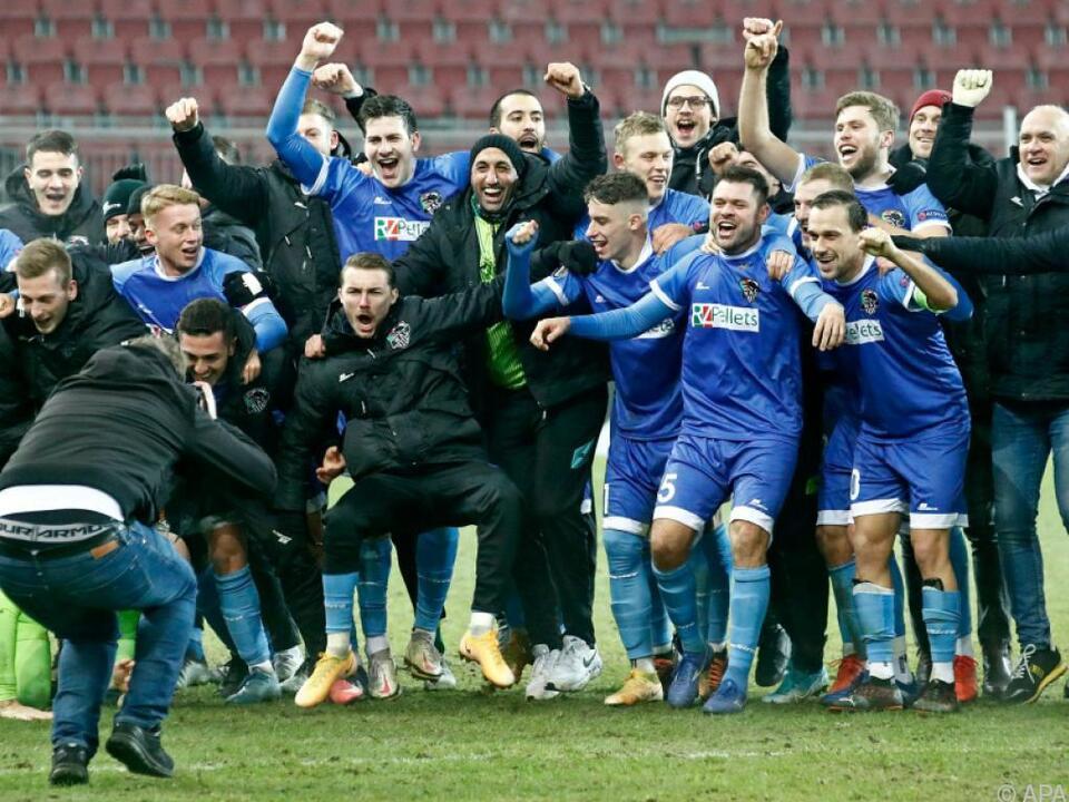So jubelte der WAC nach dem 1:0 über Feyenoord im Dezember